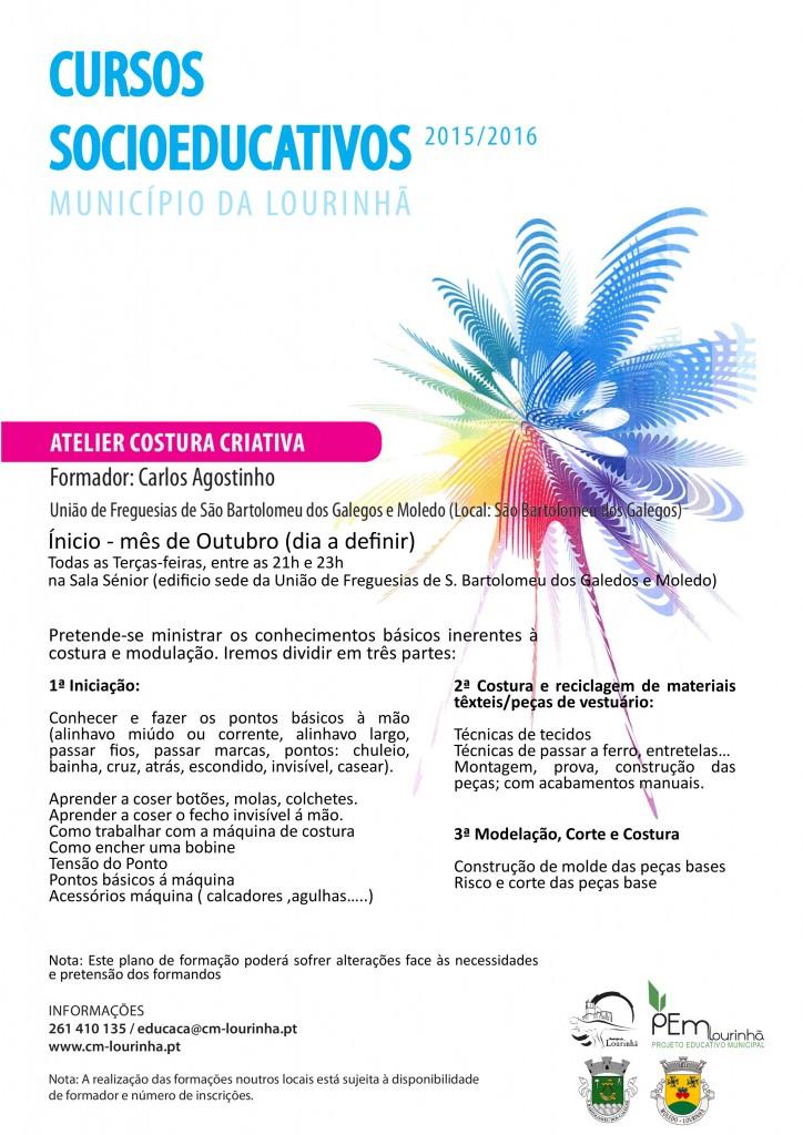 Cursos Socioeducativos - Atelier de Custura Criativa